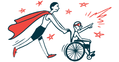 rare disease clinical trial participants | Cold Agglutinin Disease News | Illustration of woman in cape pushing child in wheelchair